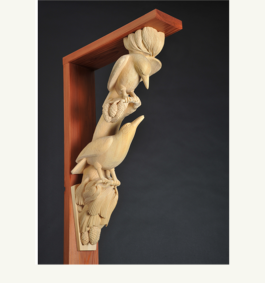 Crow Corbel, carved by Paul Reiber