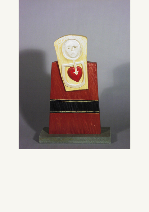 Stela Series #1, Heartsong, sculpture by wood carver Paul Reiber