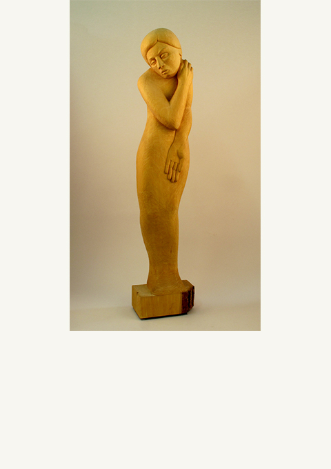 Cassandra, sculpture by wood carver Paul Reiber