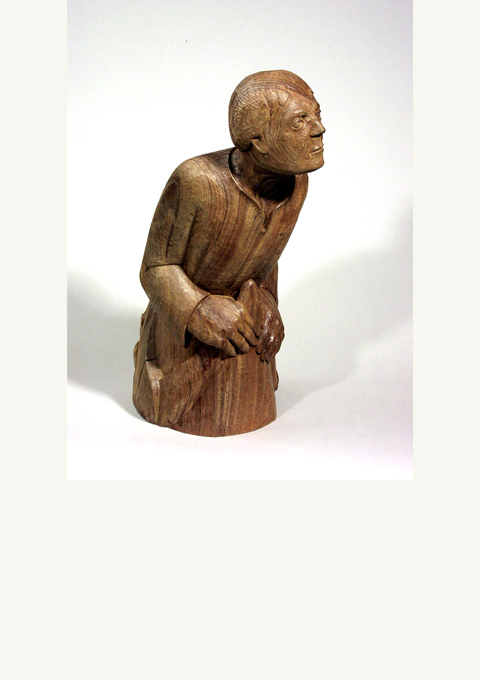 Jonah, sculpture by wood carver Paul Reiber