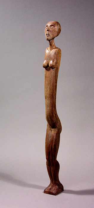 Ancestor #2, sculpture by wood carver Paul Reiber
