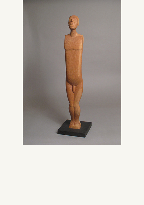 Ancestor #3, sculpture by wood carver Paul Reiber