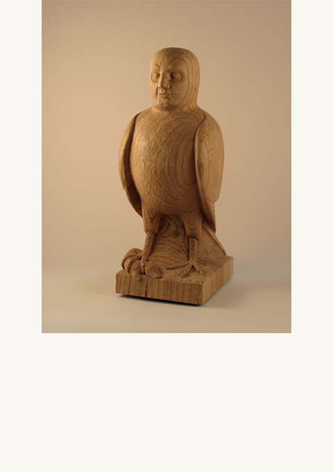 Birdman, sculpture by wood carver Paul Reiber