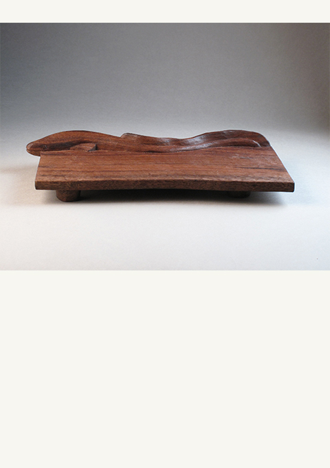Eel Sushi Tray, carved by wood carver Paul Reiber