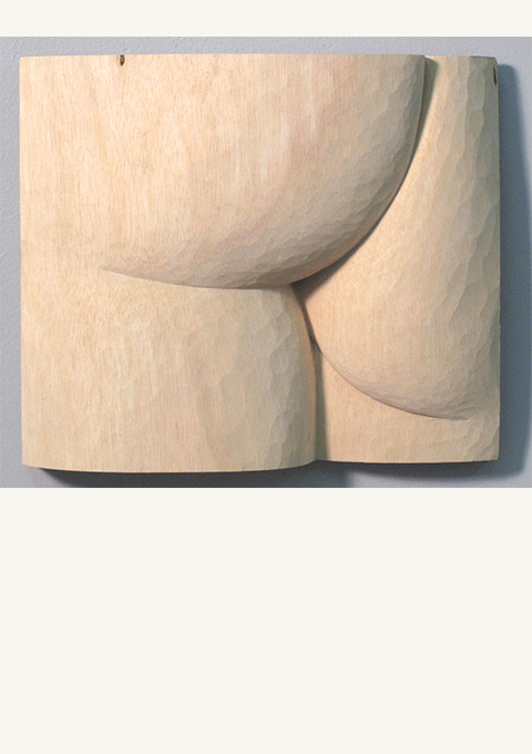 Figure Study #28, carved panel by wood carver Paul Reiber
