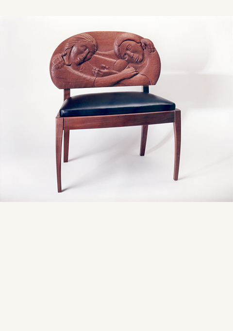 Love Seat, furniture by wood carver Paul Reiber