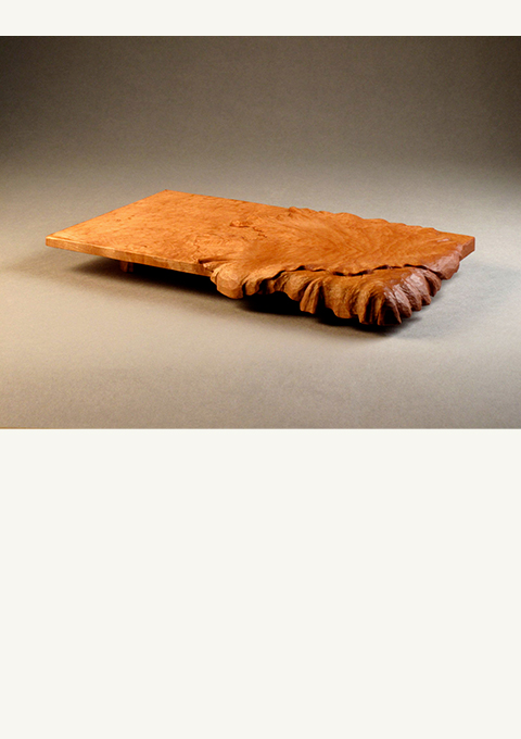 Nori Sushi Tray, carved by wood carver Paul Reiber