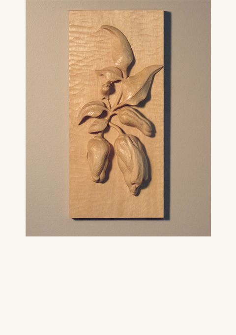 Pepper Panel, carved panel by wood carver Paul Reiber
