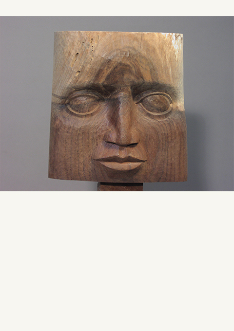 Walnut Face with Graft, carved panel by wood carver Paul Reiberby wood carver Paul Reiber