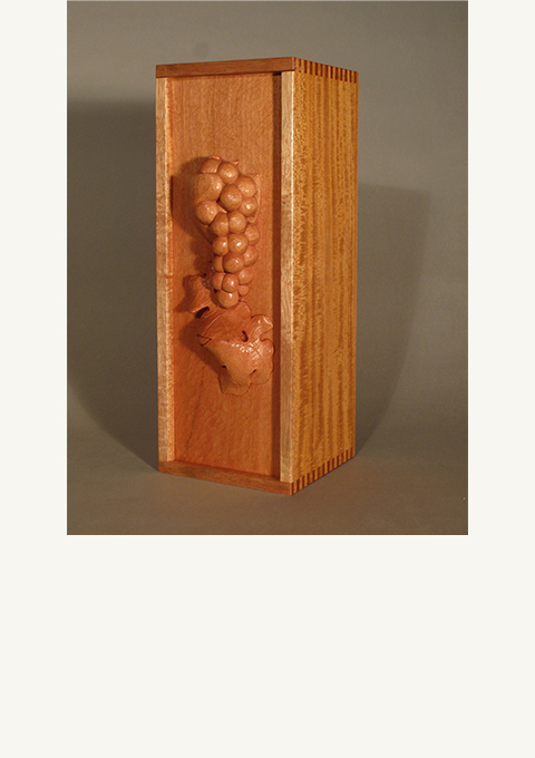 Winesong Box Lid 2011, carved by wood carver Paul Reiber